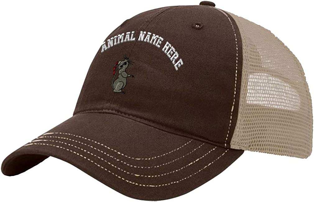 Custom Trucker Hat Richardson Mouse A Embroidery Animal Name Cotton Snaps