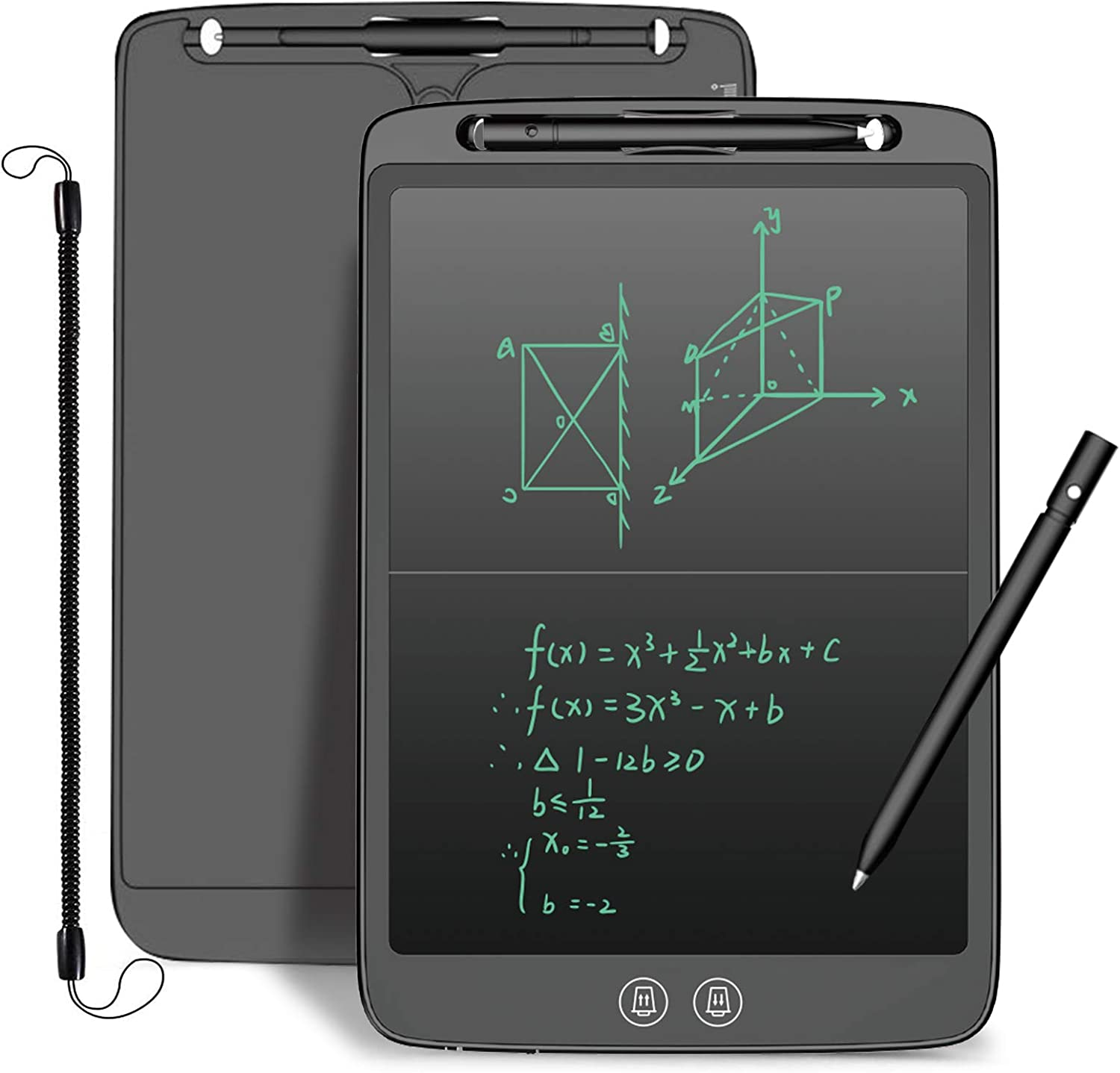 Writing Board w// Eye-friendly Screen Anti-deleted Button Children Boys Clear Digital Ewriter//Handwriting Doodle Pad Gift for Girls 12 Inch LCD Writing Tablet for Kids w// PARTIAL ERASABLE Function
