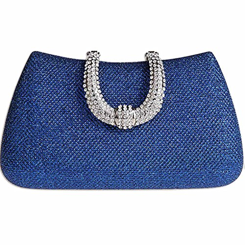Satin Evening Blue Womens KAXIDY Gold Wedding Rhinestone Bag Ladies Diamond Handbag Bridal Prom Elegant Clutch vfRwR6xqE