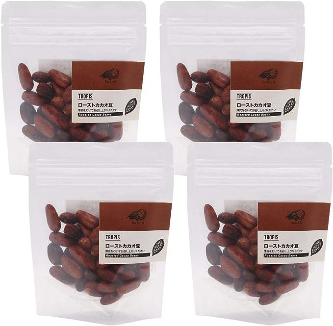 【TROPIS】ローストカカオ豆(50g)×4袋