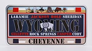 Dimension 9 Home Decorative Plate, Wyoming