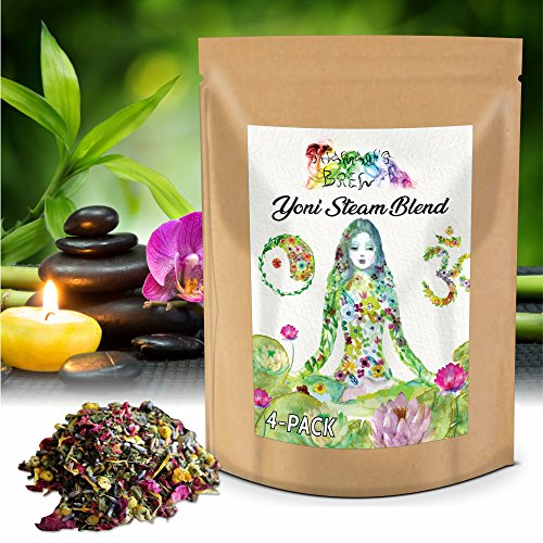 (4 Steams) Yoni Steam Bags w/ Organic Herbs for 4 Vaginal Steams | V-Steam for Feminine Wellness, 4.8 oz | by Shaman's ()