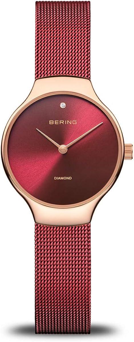 BERING Reloj Analógico para Mujer de Cuarzo con Correa en Acero Inoxidable 13326-Charity