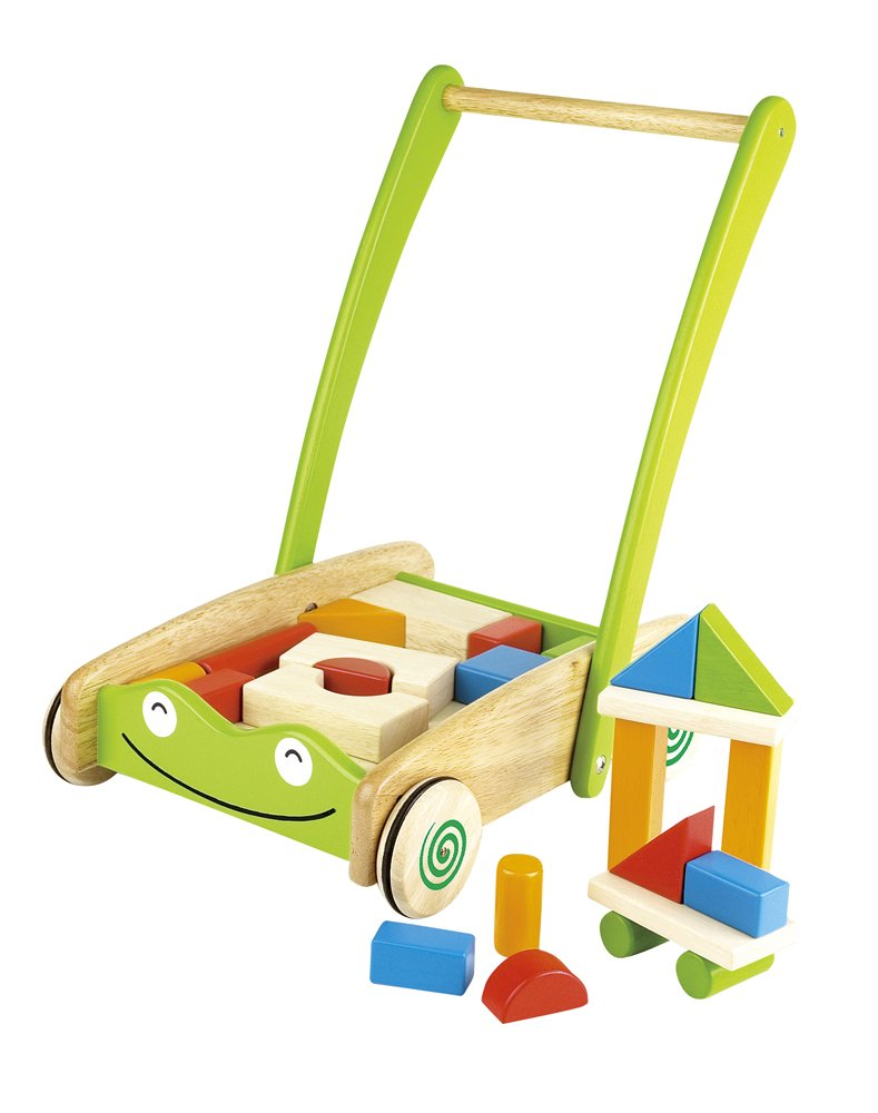 It cleared the safety standards of Europe! PINTOY (Pintoi) toddler cart with Blocks