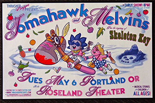 Tomahawk and Melvins - Live at Roseland Theater - Concert Gig Mini Poster ()
