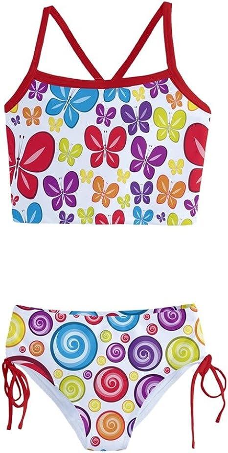 Amazon.com: PattyCandy - Traje de baño para niña, diseño de ...