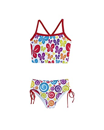 4f0d6d540dc37 PattyCandy Little Girls Bathing Suit Swirls of Butterfly Tankini Swimsuit -  2