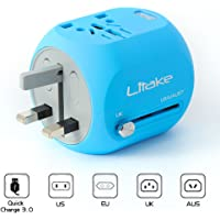 Litake Mini Travel Power Adapter Wall Plug Travel Adapter