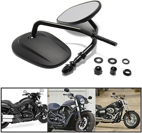 8mm Motorrad Spiegel Lenker Rückspiegel Für Cruiser Touring Harley Davidson Xl 883 1200 Schwarz Auto