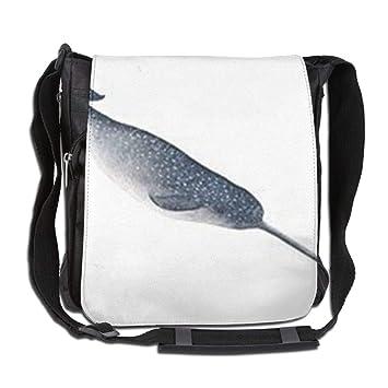 11140a42e31 Image Unavailable. Image not available for. Color  UHNU Single-Shoulder Bag  Whale Canvas Satchel Bag Shoulder Bag Crossbody Sling Bag Men Women