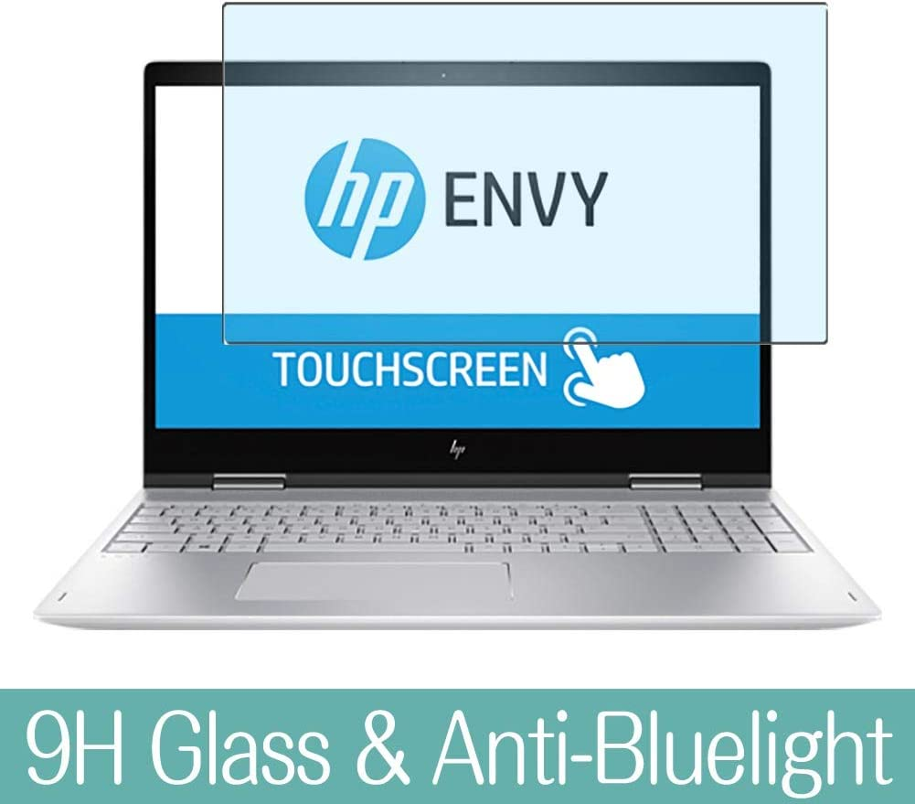 "Synvy Anti Blue Light Tempered Glass Screen Protector for HP Envy x360 15m-bp100 / bp112dx / bp111dx 15.6"" Visible Area 9H Protective Screen Film Protectors"