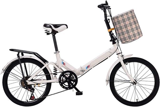 20 Pulgadas De Bicicletas De Montaña Plegable Edad, Peso Ligero Portátil Con Absorción De Impactos De