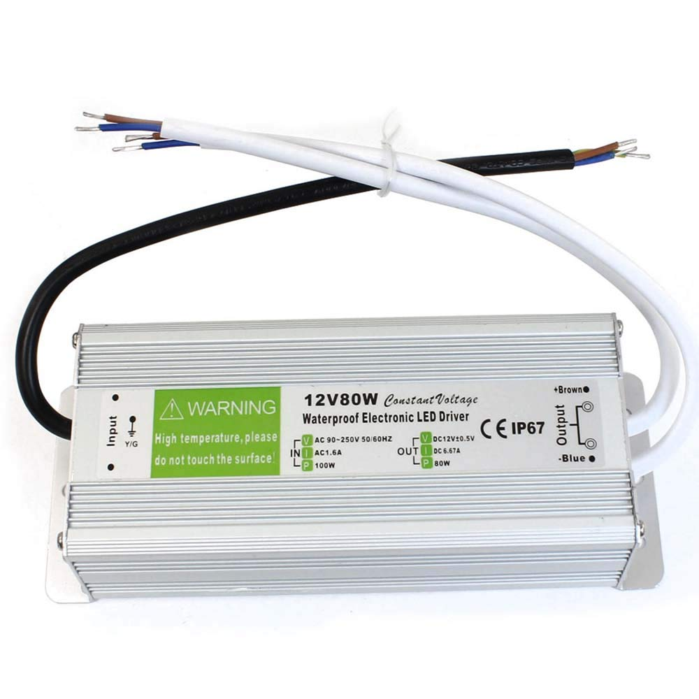 IP67 Waterproof Switching Power Supply Regulated Transformer Short Circuit and Over Current Protection DC12V Shortage Protection Overload Protection Over Voltage Protection. IP67 80W