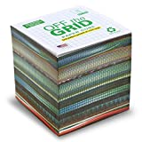 """Off the Grid Note Cube graph paper NOT STICKY 3.5"""" cube - Made in USA (paper US/CAN) - 100% Recycled 24 lb. bond - 700 tear-off pages (grid printed on top side of each sheet) NOT LOOSE"""