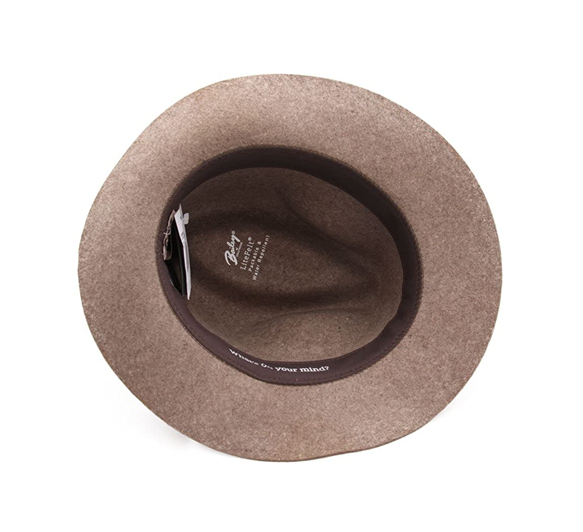 Bailey of Hollywood Atmore Wool Felt Fedora Hat Packable Water Repellent
