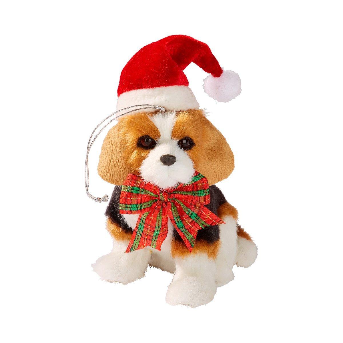Tri Weihnachts-Hund, Deko-Plüschhund mit weihnachtlicher Kleidung ...