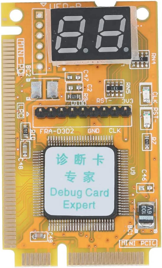 Debug Card, Portable Computer Diagnostic Card Support USB Mini PCI Mini PCI-E LPC Bus Interface, Laptop Analyzer Tester Mother Board
