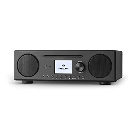 professionnel de premier plan en ligne à la vente éclatant AUNA Connect CD - Digital Internet Radio, Wifi, Bluetooth, DAB/DAB + / FM  RDS, Auto Power Off, Spotify, AUX, 10 Memory, MP3 CD, USB, Alarm Clock, ...
