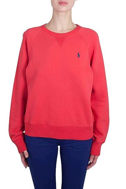 Polo Ralph Lauren - Sudadera - para Mujer Rojo S: Amazon.es: Ropa y accesorios