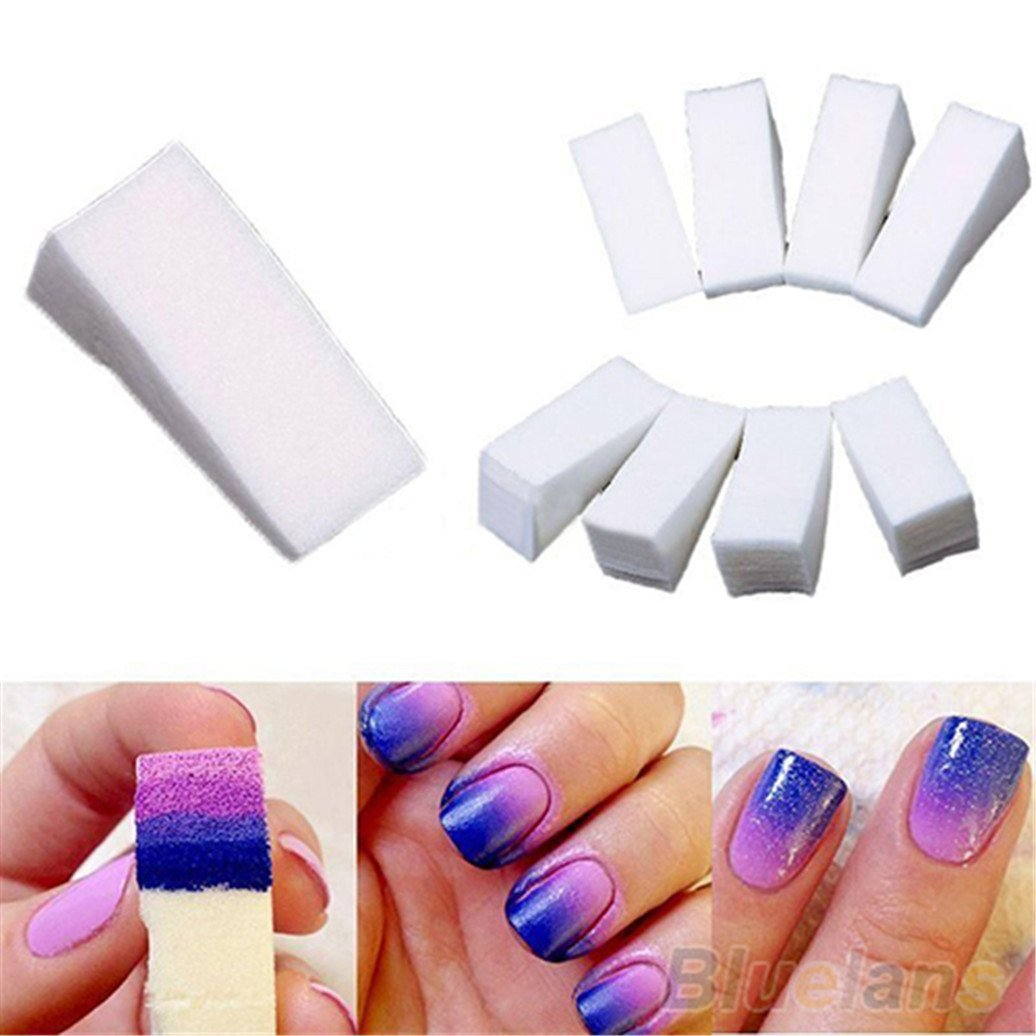 8Pcs Gradient Nails Soft Sponges Stamper Shade Transfer Template Polish Nail Art Scraper Stamping for Color Fade Manicure Brussels08