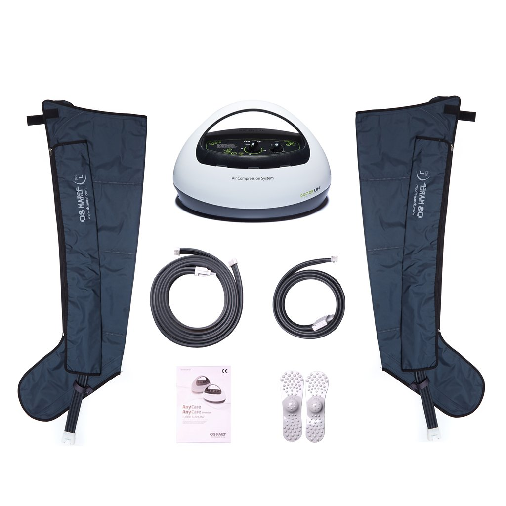 [DOCTOR LIFE] ANYCARE Sequential Air Compression Leg Massager. Blood & Lymphatic Circulation Therapy System. Recovery boots. Recovery Pump. Sleeve Size: M. 110V U.S.
