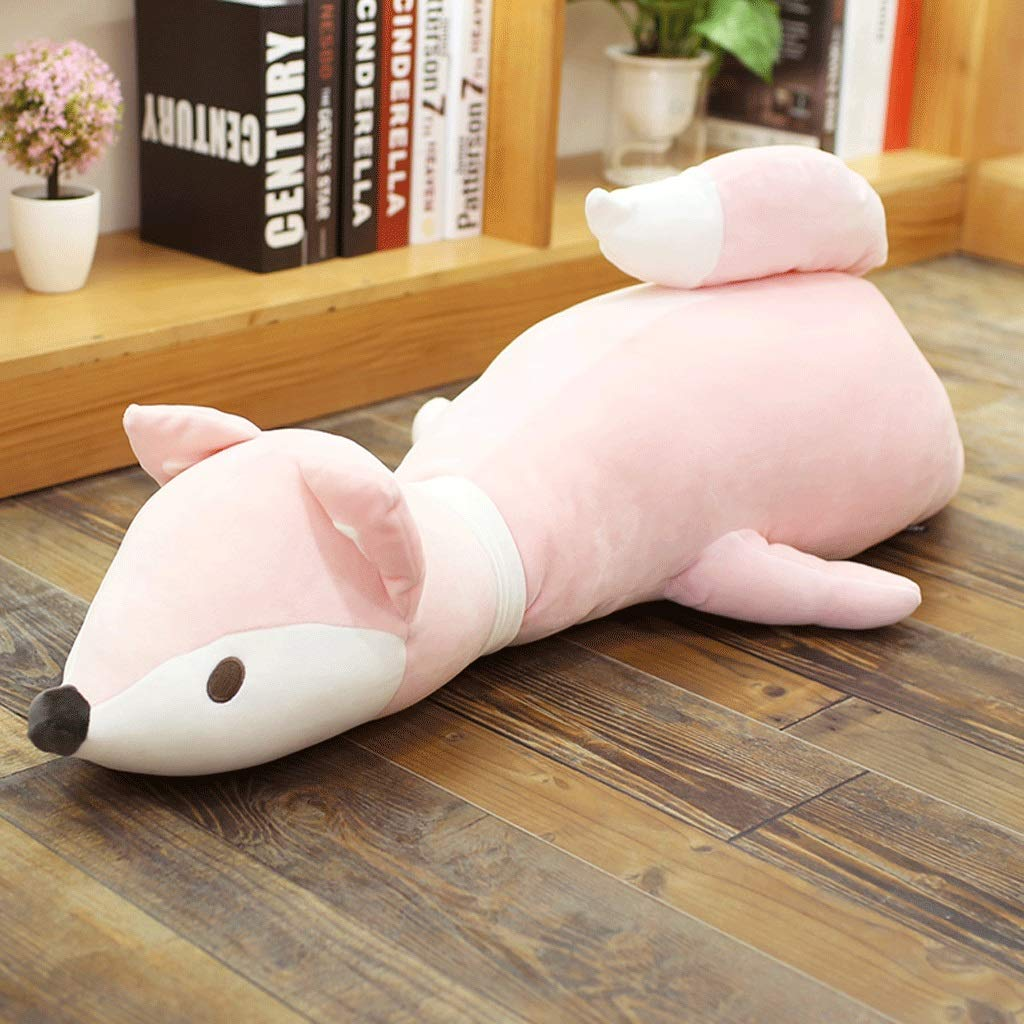 Hold Pillow - Fox Plush Toy Doll Pink Oversized Sleeping Doll Bed Cute Girl Birthday Present (Color : Pink, Size : Size: No. 1-120cm) by Chx