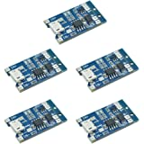 McIgIcM 5pcs Micro USB 5V 1A 18650 TP4056 Lithium Battery Charger Module Charging Board with Protection Dual Functions…