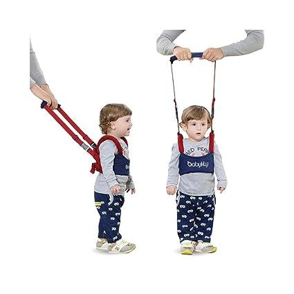 Handheld Bebé Walker, iceblueor seguro para caminar Asistente Helper Kid caminar Asistente arnés de Aprendizaje