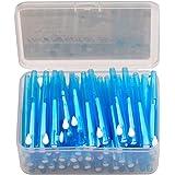 CkeyiN Lot de 60pcs Brossettes interdentaires (0.7MM) + 2Pcs Porte-fil dentaire,Soins des dents pour nettoyer les dents et gencives