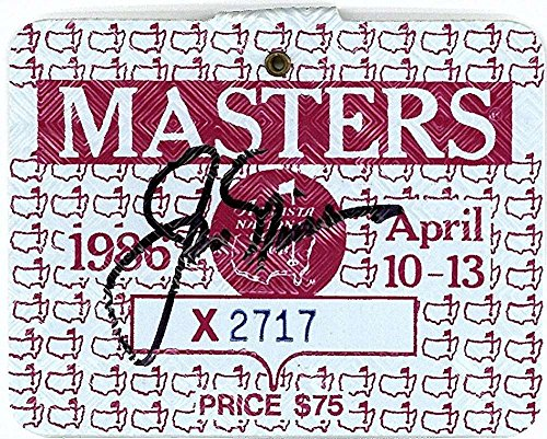 Jack Nicklaus Signed Autographed 1986 Masters Golf Badge Win JSA Authentic (1986 Jack Nicklaus Autographed Masters)