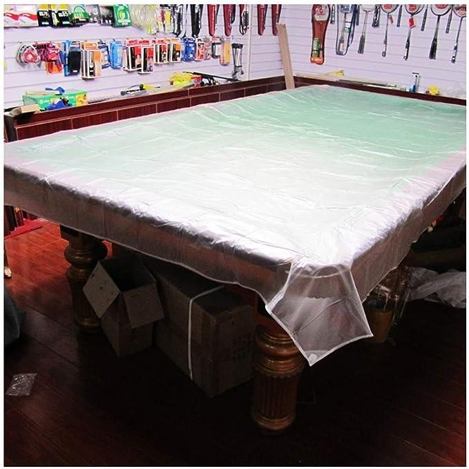 AtR Juego de Fundas para Muebles de ratán de jardín Cubierta de la Mesa de Billar Cubierta de Polvo Mesa de Ping Pong Mesa de plástico translúcido Impermeable Protector Solar A Prueba