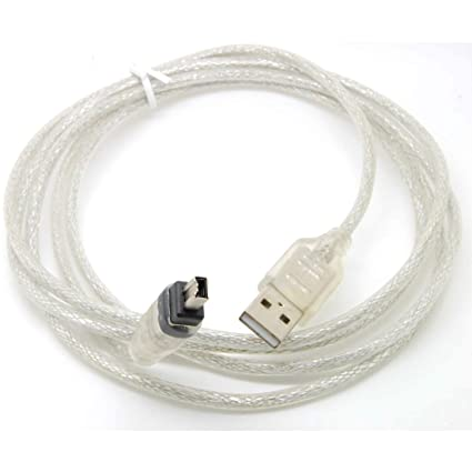 Amazon.com: PINGSX 6Feet Usb Data Cable Firewire IEEE 1394 for MINI ...