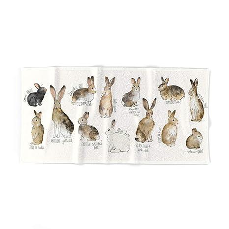 Society6 conejos y liebres toalla de baño, multicolor, Toalla de baño