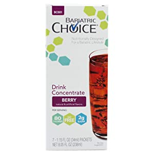 Bariatric Choice Low-Carb Liquid Protein Fruit Drink Concentrate - Berry Flavored Drink Mix To Enhance Water - 3 Box Value Pack - SAVE 10%