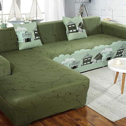 AjAsh7 Funda Sofá Chaise Longue Brazo Elástico Cubre Sofa ...