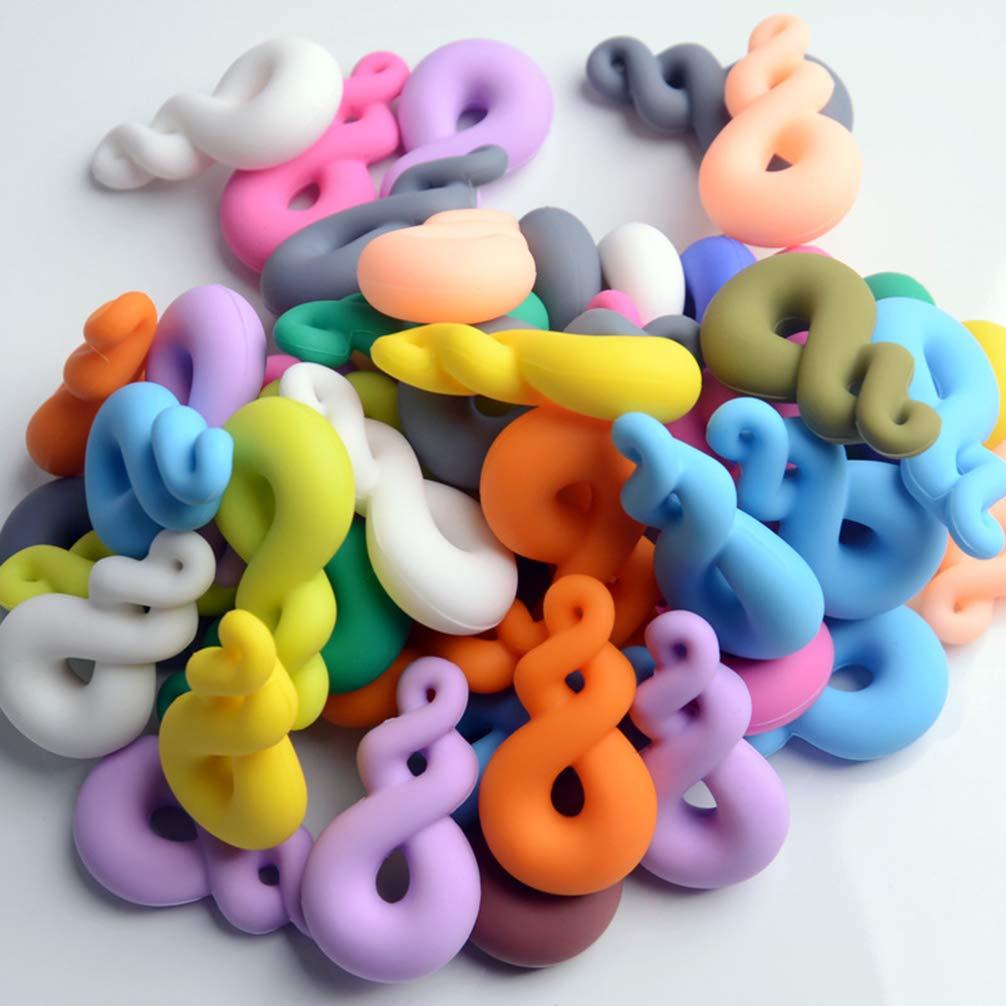 SUPXOV 2Pcs Chew Necklace Chewlery Necklace for ADHD Oral Motor Autism Chewing Morder Mordedura de dentici/ón Necesita ni/ños Ni/ños Ni/ñas