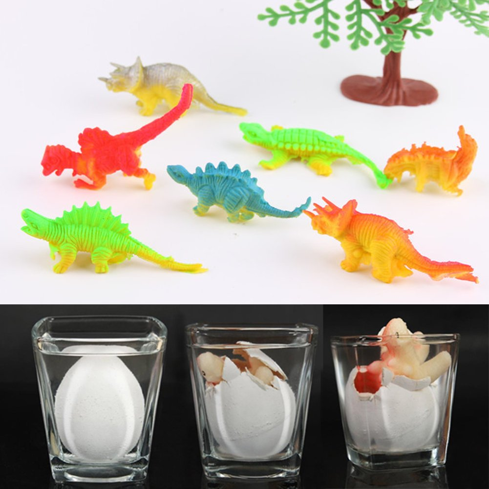YKL WORLD Hatching Dinosaur Eggs Set of 12 Pcs Crack Colorful Grow Dino Egg That Hatch in Water Growing Pet Birthday Easter Party Favors Gifts for Kids Boys