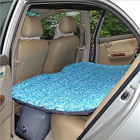 RUIRUI Coche Viajes Inflable colchón Aire Cama cojín Camping Universal SUV Asiento Trasero extendido Aire sofá, Split, Oxford Korean Marine Blue Cloth ...