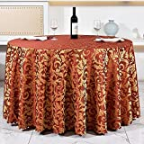 BUYIBUYI Round tablecloths Hotel tablecloths Printed fabrics European restaurants   Living Room Coffee Table Large Meeting Large Banquet Party Special Tablecloth Plant Printed Cloth President Tableclo