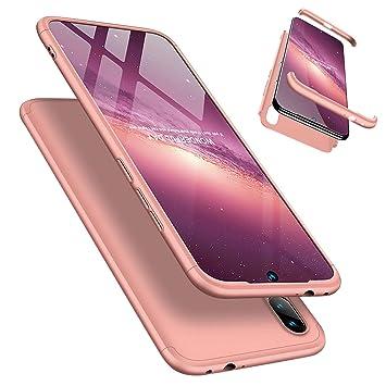Funda Xiaomi Redmi Note 7/Note 7 Pro 360°Caja Caso + Vidrio Templado Laixin 3 in 1 Carcasa Todo Incluido Anti-Scratch Protectora de teléfono Case ...
