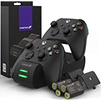 Fosmon Dual 2 MAX Charger Compatible with Xbox Series X/S (2020), Xbox One/One X/One S Elite Controllers, High Speed…