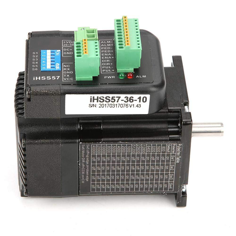 Textile Machines Nema 23 Stepper Motor Stepper Motor IHSS57-36-10 3D Printer Printing DC36V Motor Driver Kit High Torque 1Nm Hybrid Closed Loop Stepper Servo for CNC