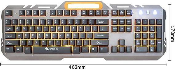 Widewing APEDRA AK-X60 Teclado de Metal con Cable USB, 104 ...