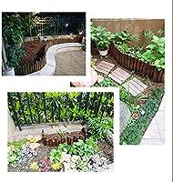 ZAQI Borduras Jardin Borde Cesped Borde de jardín de Patio al Aire Libre de Flores, decoración de Madera Cercos, 12/20/30/40/50/60 cm de Altura (Color : Length 120cm/47, Size : Height 50cm/20): Amazon.es: Hogar