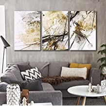 FamilyWall Modern Abstract Wall Decor Paintings on Canvas 40 * 60cm 3pcs Stretched and Framed Ready to Hang , a , 60x90