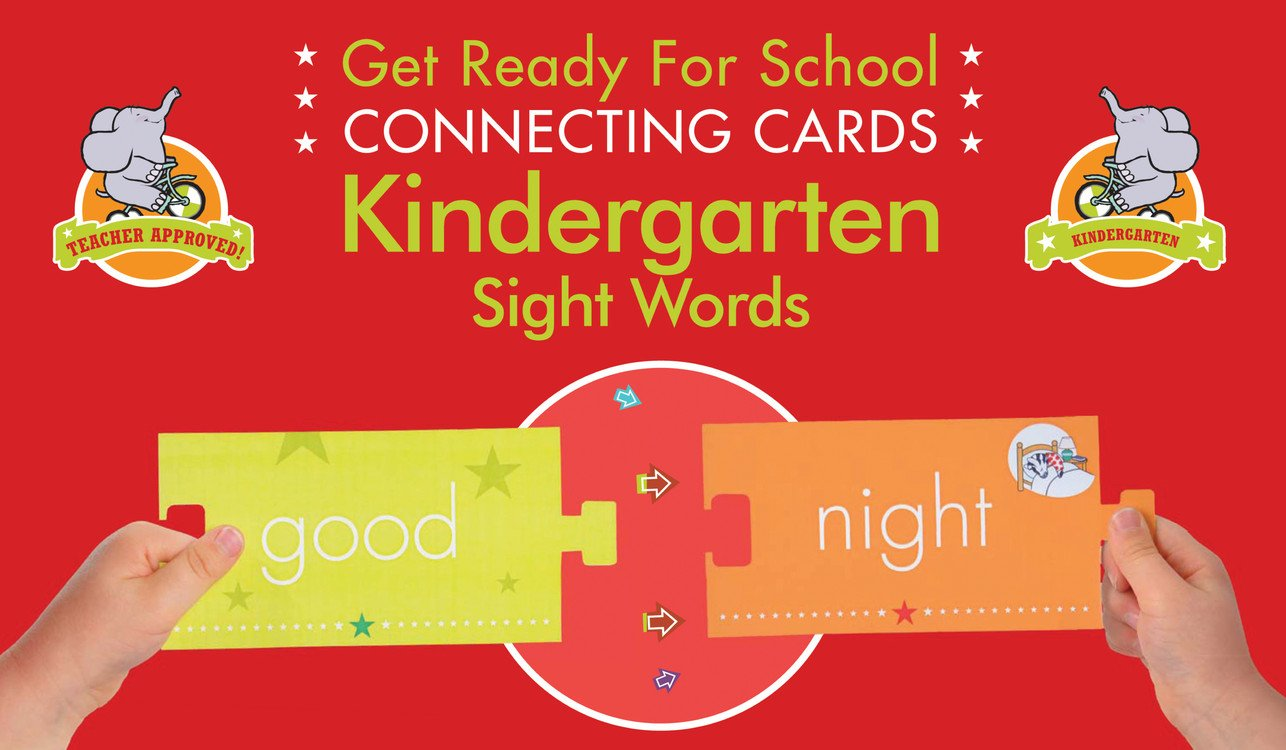 Get Ready for School Connecting Cards: Kindergarten Sight Words