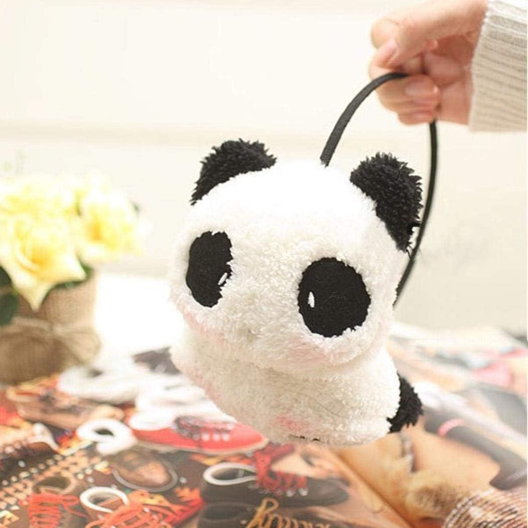 Lieja Women Thick Plush Earmuffs Send in Random Color Cute Panda Rabbit Shape Ear Muffs Girls Faux Fur Ear Warmers