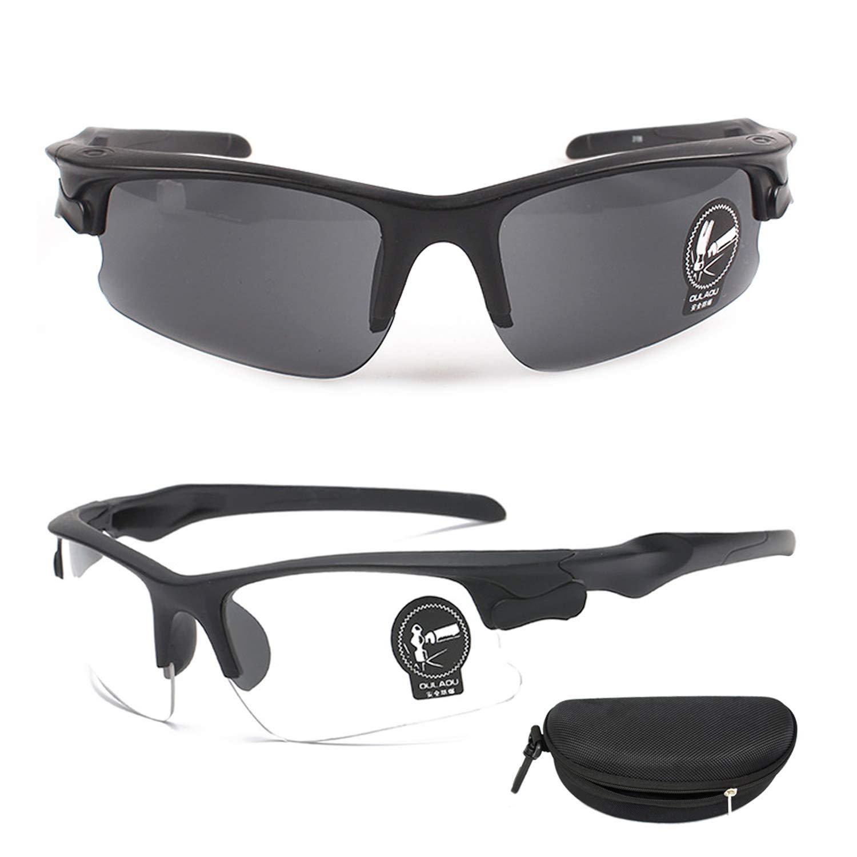 2PCS QHIU Occhiali Tattici Anti-Explosion Protettivi UV Goggles per Occhiali da Avventura Viaggio Guida Ciclismo Moto Outdoor Sport allAria Aperta Uomo Donna Unisex