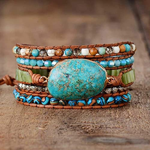 Jasper and Howlite mix of beads Turquoise