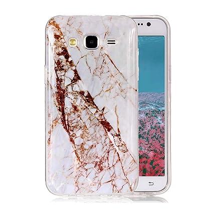 Funda Mármol para Samsung Galaxy J5 2015, Ronger Carcasa TPU Silicona Marble Case Cover Moda de Ciencia Ultra Flexible Patrón de Piedra Funda Samsung ...